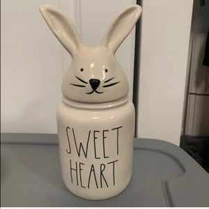 PRICE FIRM NEW  Rae Dunn BABY sweet heart canister